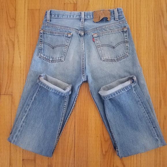 99f31e1c Levi's Jeans | Vintage Levis 501 80s Gold Outseam Thread 27x29 ...